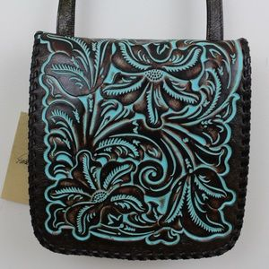 Patricia Nash Tooled Turquoise Granada Crossbody